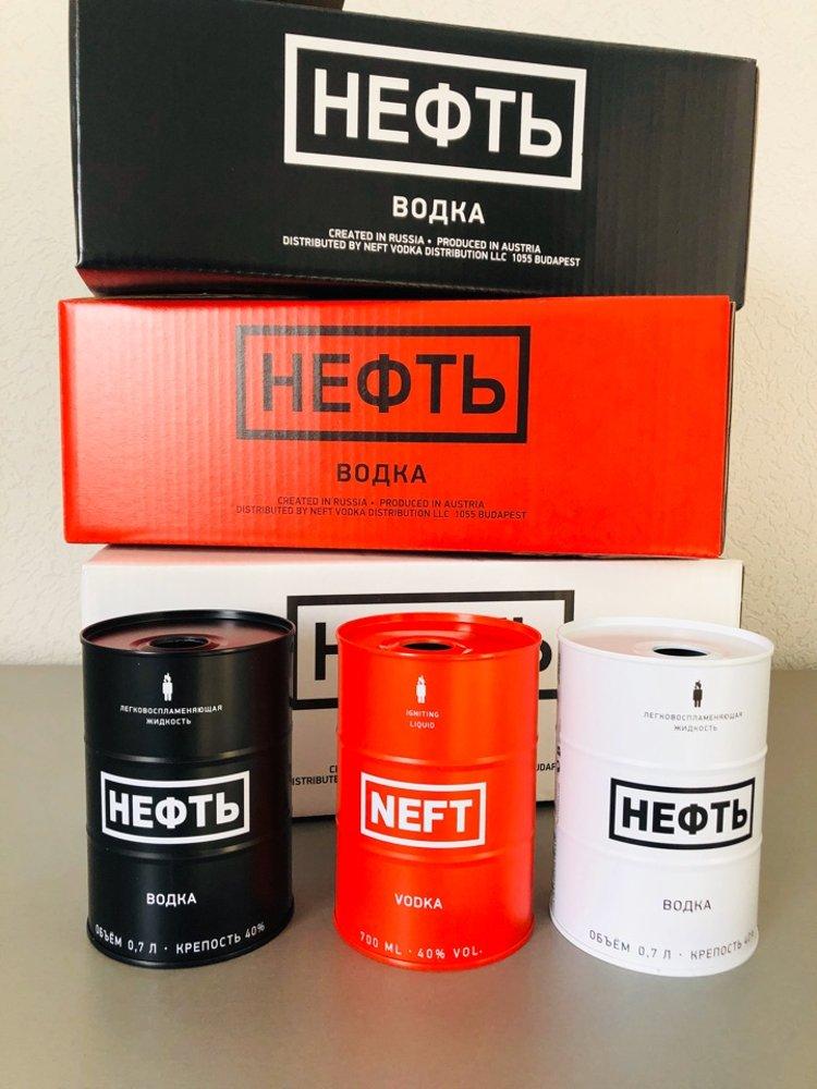 """Водочный комплект """"Нефть"""" (сувенирная, выставочная продукция)"""